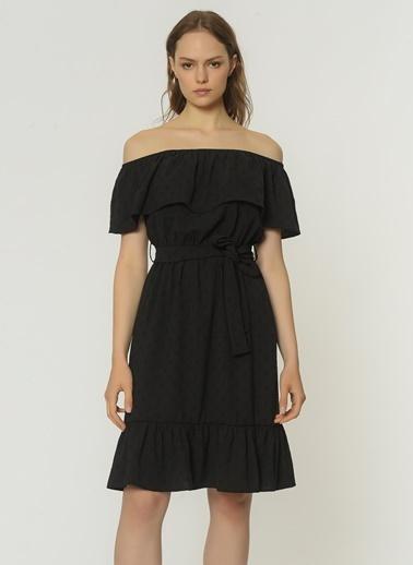 NGSTYLE Carmen Yaka Elbise NGKSS21EL0071 Siyah